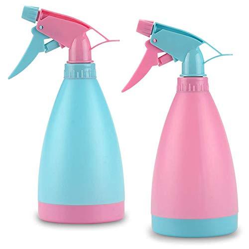 JINLE Kunststoff-Sprühflaschen, 500 ml, Sprühflaschen, Zerstäuber, leere Flaschen für Gartenarbeit, Reinigung