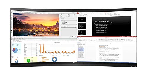 LG 38CK900N-1C Curved Thin Client All-in-One Monitor 95,25 cm (37,5 Zoll) (IPS-Panel, 8 GB RAM, 128 GB SSD), schwarz