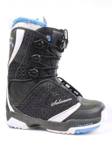 Salomon F20 - Botas de snowboard para mujer, talla 10/11, color blanco...