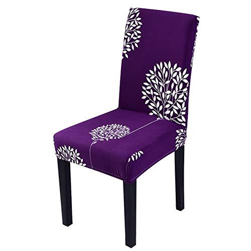 YAYANG Chair Cover 1/2 / 4 stücke Jacquard Wildleder Stuhlabdeckung Spandex Stretch Elastic Band Hochzeit Bankettstuhlabdeckungen Esssitz Casual (Color : G, Specification : 2 PCS)