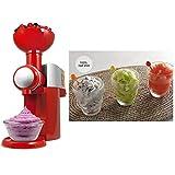 Law Máquina De Helado De Fruta, Fabricante De Postres Congelados Automático Yogurt, Suave Servir Helado, Natillas, Sorbete, Rojo