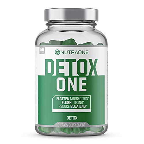 DetoxOne ​Colon Cleanser & Detox for Weight Loss​ by NutraOne | ​30​ Day Extra Strength Detox Cleanse for Constipation Relief​* |​ Flush Toxins, Boost Energy​ & Improves Nutrient Absorption* | ​#1 Be