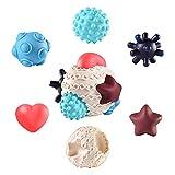 iBaste Texturierte Bälle Im Set Für Die Sensorische Entwicklung, Strukturierte Multi Ball Set Taktile Sensorische Bälle Badespielzeug Für Baby