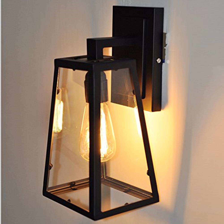 Modern LED Wandleuchte Flur Gang im Freien Glas Box Wandleuchte retro kreative Persnlichkeit Flur Gang Vintage Retro Café Loft Bar Flurlampe, Wandlampe Upaus Aluminium für Flur Korridor.