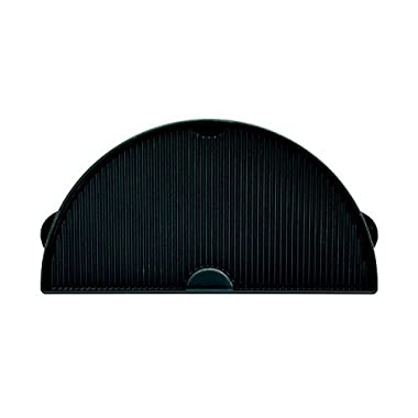 Big Green Egg - HALF MOON EX-LARGE Cast Iron Griddle - Authentic Big Green Egg Grill & Smoker Accessories are a Must for BGE Users. Satisfaction Guaranteed!