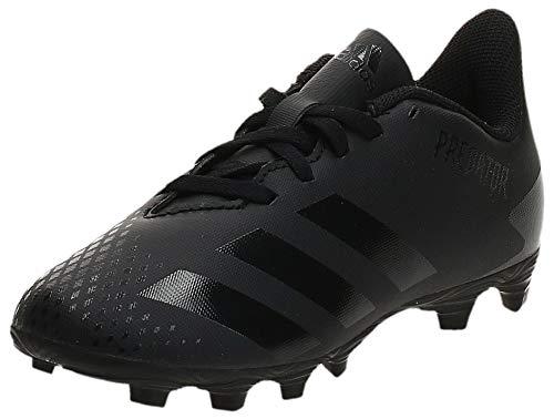 adidas Predator 20.4 FxG J, Zapatillas Deportivas, Core Black/Core Black/DGH Solid Grey, 38 EU