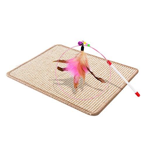 Alfombrilla de sisal, alfombrilla rascador para gatos, añade 1 pieza de rascador para gatos, resistente y duradero, protege muebles, se utiliza para arañazos de gatos y proteger muebles (40 x 30 cm)