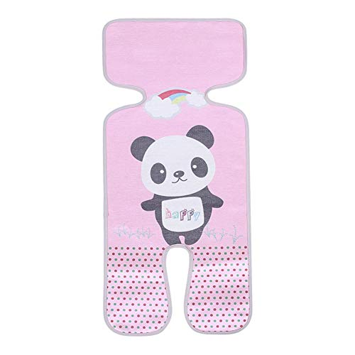 Baby Summer Ice Silk Liner Pram Sleeping Cushion for Stroller and Car Cart Seat Mat Cover Infant Stroller Seat(Panda Pink)