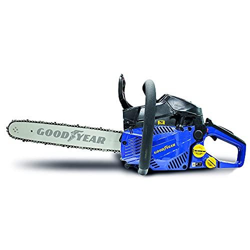 Goodyear Motosierra gasolina , motor 2 tiempos (40 cc.). Espada 40 cm. Arranque Easy Start y sistema de seguridad frontal.