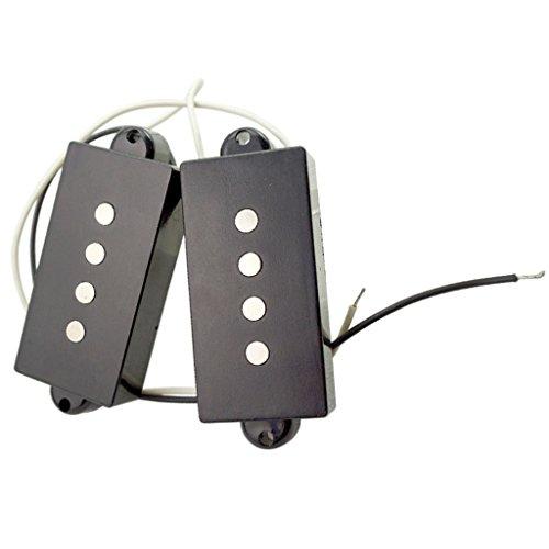Pastilla Humbucker de Cuello Puente Accesorios para 4 Cuerdas PB Bajo Eléctrico - Negro
