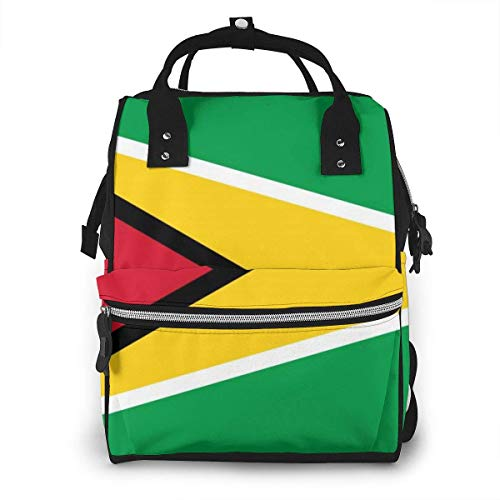 Guyana vlaggen van landen stijlvolle luiertas mode waterdichte multi-functie reizen rugzak grote luiertassen mama rugzak voor babyverzorging