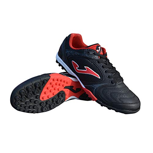 Joma Men's Dribling TF Turf Soccer Shoes (9, Black/Red)