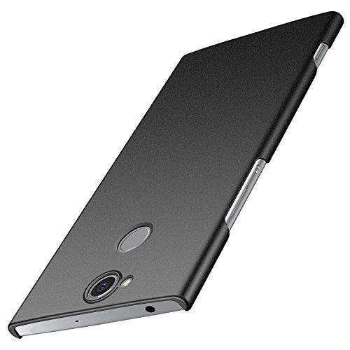 Sony Xperia XA2 Plus Hülle, Anccer [Serie Matte] Elastische Schockabsorption & Ultra Thin Design für Sony XA2 Plus (Nicht für Sony XA2) (Kies Schwarz)