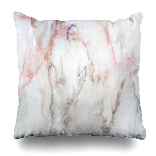 jingqi Housse de Coussin détail Gris marbre Blanc Antique Gris Abstrait Rose Roche Brillant Toile comptoir de mottes Design taie d'oreiller Marron