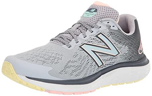 New Balance Women's Fresh Foam 680 V7 Running Shoe, Silver Mink/Thunder/White Mint, 9 Wide