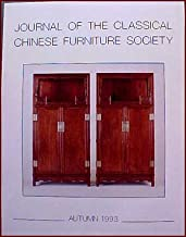 Journal of the Classical Chinese Furniture Society Autumn 1993 Volume 3, Number 4 the Platform in Chinese Furniture, Furniture in the Novel Jin Ping Mei