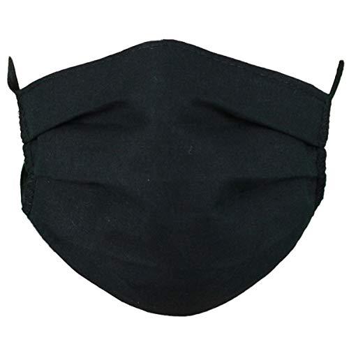 Mundbedeckung, Mund Nase Maske 100% Baumwolle, waschbar schwarz
