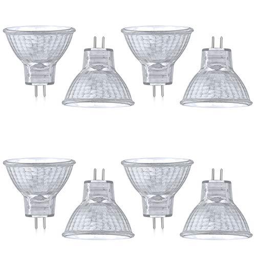 Luxvista Halogenlampe MR11 GU4/G4 20 W, AC/DC 12 – 24 V, Halogen-Reflektor, warmweiß, 2800 K, 30 ° Radius GU4, Bi-Pin-Sockel, Einbaustrahler für Dunstabzugshaube, Garten, Bad (8 Stück)