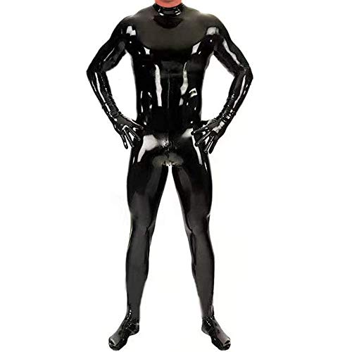 Zakjj Latex Catsuit Men Alien Suit Sexy Devil Costume for Men Model HY603,XL