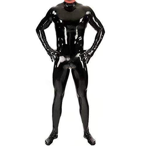 Zakjj Latex Catsuit Men Alien Suit Sexy Devil Costume for Men Model HY603,L