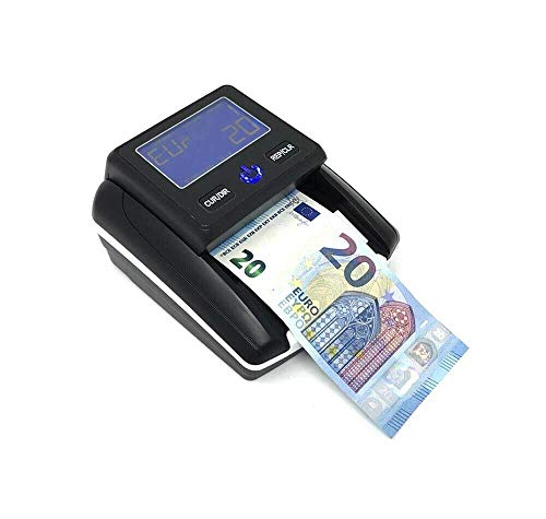 Detector de dinero falsos actualizable con USB para verificar billetes falsos Euro