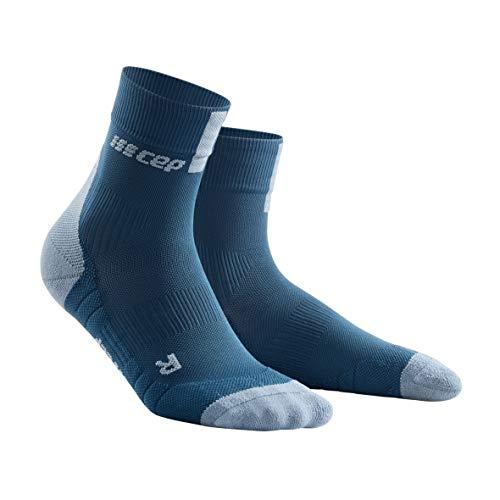 CEP – Short Socks 3.0 für Damen | Sportsocken für mehr Power und Ausdauer in blau/grau in Größe III