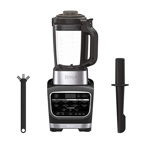 Ninja Foodi Cold & Hot Cook Hot Soups, Sauces and Dips Blender with 1400 Peak Watts to Crush Frozen Drinks & Smoothies Nonstick Glass Pitcher (HB152), 64 oz, Black