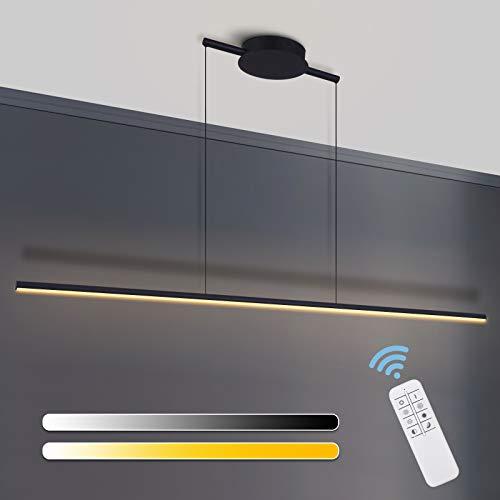 Zicbol Dimmbare Pendellampe LED Pendelleuchte Esstisch, Hängeleuchte mit Fernbedienung, Moderne Hängelampe Kronleuchter, Einstellbare Länge, Modernen Kronleuchter für Kücheninsel, Esstisch