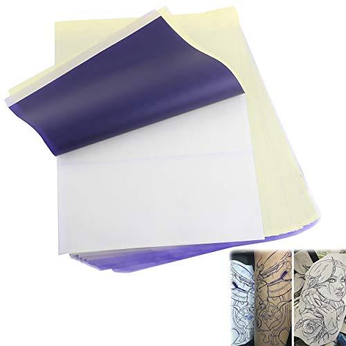 allgemein 50 Fogli Fogli Carta per Tatuaggi Trasferimento Efficiente A4 Stencil per Tatuaggio Carta Stampante Accessori