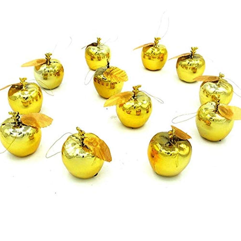 相談するアコードくちばしクリスマス オーナメント リンゴ アップル ボール 12個入り 結婚式 クリスマス ツリー 飾り 雑貨 (ゴールド)