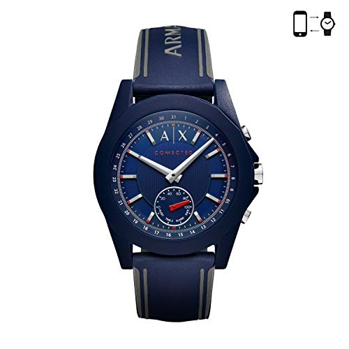 Armani Exchange męski smartwatch pasek Mens Standard NIEBIESKI