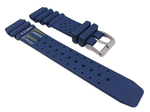 Citizen Uhrenarmband Kautschuk dunkelblau 20mm für Promaster Diver NY0040-17LE