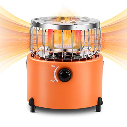 Camping Gear, 2 in 1 Portable Propane Heater & Stove, Outdoor Heater Backpacking Gear Camping Cooking Propane Stove, Outside Heater Tent Heater for Ice Fishing Backpacking Hunting Hiking Stove