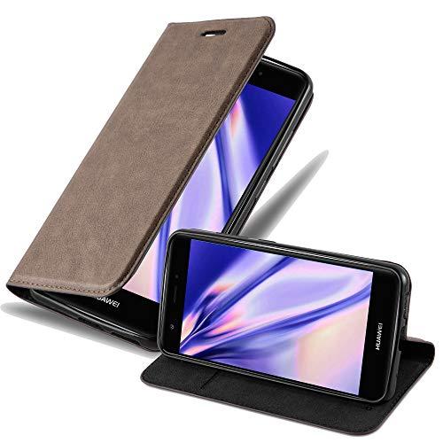 Hülle für Huawei NOVA - Hülle in Kaffee BRAUN – Handyhülle mit Magnetverschluss, Standfunktion und Kartenfach - Case Cover Schutzhülle Etui Tasche Book Klapp Style