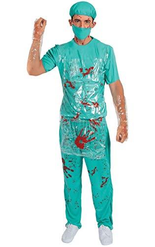 ORION COSTUMES Costume de déguisement d'Halloween avec un uniforme de chirurgiens sanguinaires pour hommes