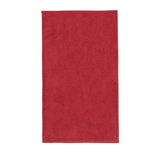 Sancarlos - Toalla lisa OCEAN, Densidad 550 gr/m2, Rojo, Lavabo, 50x100 cm
