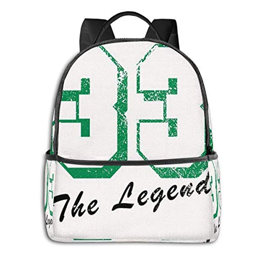 Hdadwy The Legend Backpack Unisex School Daily Backpack Lightweight Casual Travel Outdoor Camping Daypack