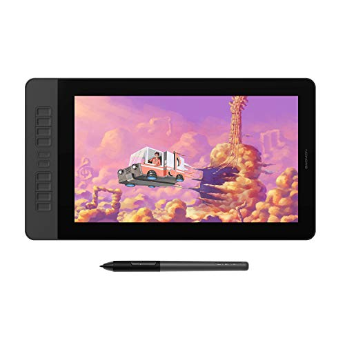 GAOMON PD1561 15.6 Inches Full HD IPS Pen Display with 8192 Levels Pressure Sensitive Tilt Support Battery-Free Pen and 10 Shortcut Keys Graphics Drawing Tablet Monitor