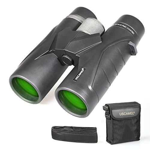 Binoculares 10x42 para Adultos, prismáticos Profesionales HD compactos para observación de Aves, Viajes, observación de Estrellas, Camping, conciertos, visitas turísticas Negro