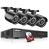 ANNKE 8 Channels 1080P HD-TVI Security Camera System with 1TB Surveillance HDD and 4x 1080P Weatherproof Bullet Camera, Convenient Email Alert with Images, Recording and Playback, Super Night Vision for <span class='highlight'>CCTV</span> <span class='highlight'>Kits</span>