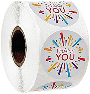 Assorted Stickers - 100pcs-500pcsGold Foil Thank You Stickers for seal labels 1 inch gift Packaging Stickers Birthday Part...