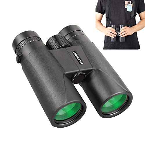 QUNSE Prismáticos Profesionales, Compactos 12x42 HD, Prismas Superiores Bak4 y Lentes ópticos FMC, para Observación de Aves, Camping, Conciertos, Caza, Safaris al Aire Libre (12x42)