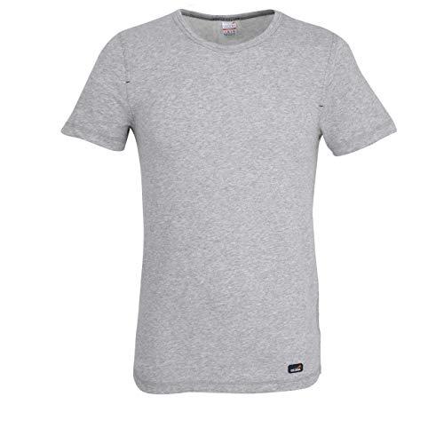 Ceceba T-shirt à manches courtes en polyamide et coton thermique pour homme Bleu marine mélangé - Gris - XX-Large