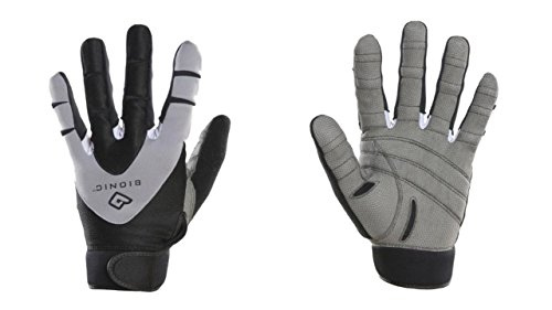 BIONIC Men's PerformanceGrip Full Finger Fitness Gloves, Large, Black/Grey