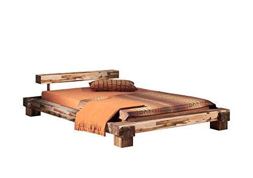 Modular Chemnitz Bettgestell, Holz, Akazie, 140 x 200 cm