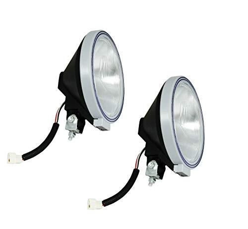 flexzon 2 luces antiniebla de 24 V, 22,8 cm, redondo, azul estrecho, haz de luz de conducción, luces blancas