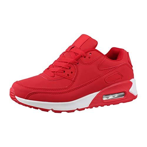 Elara Trendige Unisex Sneaker Damen Herren Kinder Sport Laufschuhe Turnschuhe Chunkyrayan Y011-H011 Red-44