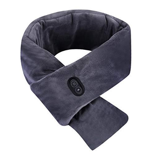 WOIA Bufanda de Inteligencia con Almohadilla térmica para el Cuello Que calienta Unisex con Bolsillos Bufanda cálida, Gris Azul