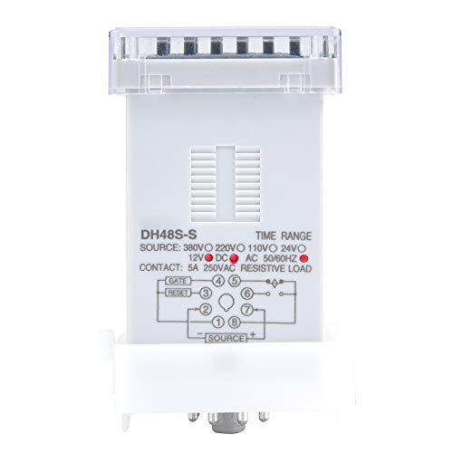 DH48S-S Relé de tiempo de retardo programable ajustable de 8 pines 0.1S-99H Eléctrico para control remoto(12VAC/DC)