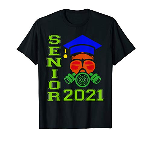 Senior 2021 Face Mask Quarantined Class of 2021 T-Shirt